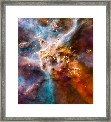 Star-forming Region In The Carina Nebula - Detail 1 Framed Print by Marco Oliveira