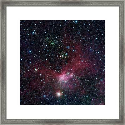 Star-forming Region Framed Print by Nasa/jpl-caltech/university Of Wisconsin