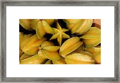 Star Fruit Framed Print
