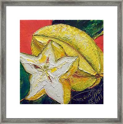 Star Fruit Framed Print by Paris Wyatt Llanso