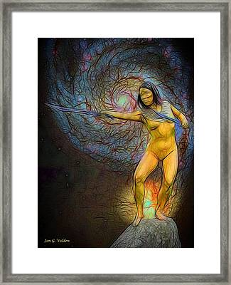 Star Goddess Framed Print by Jon Volden