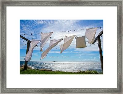 Star Island Clothesline Framed Print