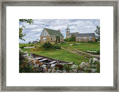 Star Island Dory Framed Print by Scott Thorp