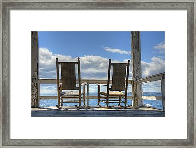 Star Island Rocking Chairs Framed Print