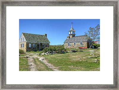 Star Island Village Framed Print