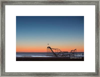 Star Jet Roller Coaster Hdr Framed Print by Michael Ver Sprill