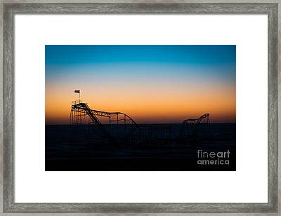 Star Jet Roller Coaster Silhouette  Framed Print by Michael Ver Sprill