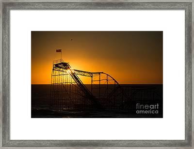 Star Jet Silhouette Framed Print by Michael Ver Sprill