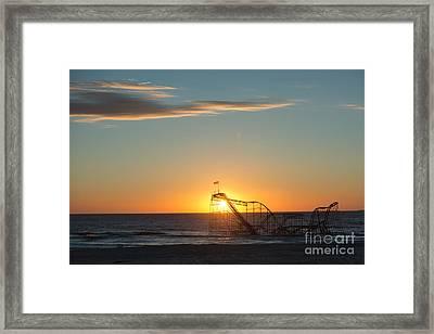 Star Jet Sunrise Silhouettte Framed Print by Michael Ver Sprill