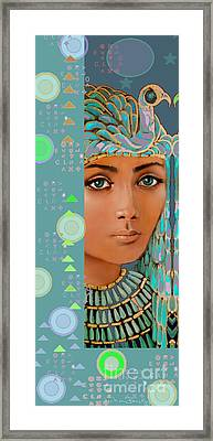 Star Lady  Atlantis Series Framed Print by Jean Marie Bowcott
