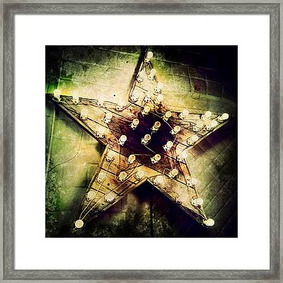 Star Light Grunge Framed Print by Natasha Marco