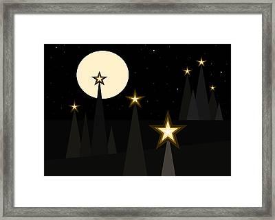 Star Light II Framed Print by Val Arie