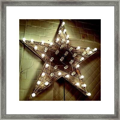 Star Light Mood Framed Print by Natasha Marco