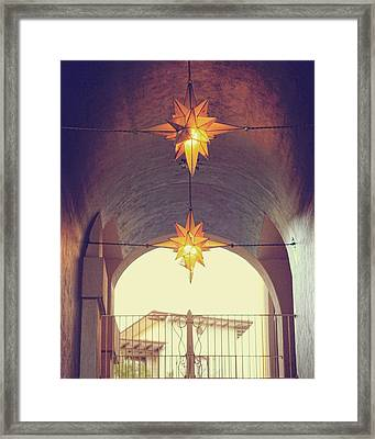 Star Lights Framed Print by Heather Green