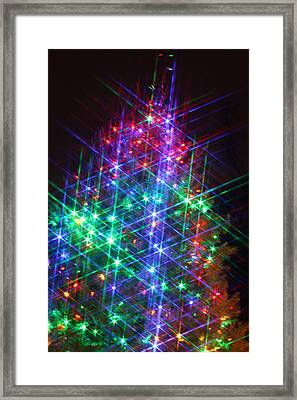 Framed Print featuring the photograph Star Like Christmas Lights by Patrice Zinck