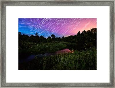 Star Lines And Fireflies Framed Print