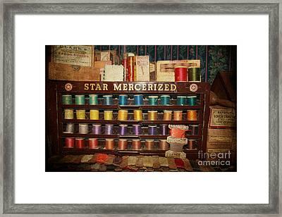 Star Mercerized Thread Display Framed Print by Janice Rae Pariza