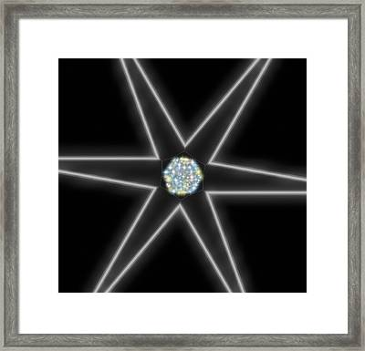 Framed Print featuring the digital art Star Of Creation Digital Art By Saribelle Rodriguez by Saribelle Rodriguez