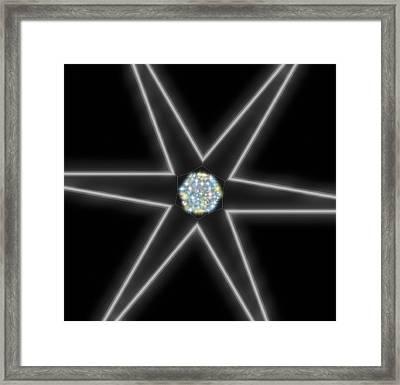 Star Of Creation Digital Art By Saribelle Rodriguez Framed Print by Saribelle Rodriguez