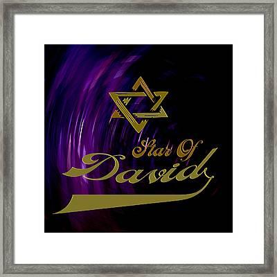 Star Of David Framed Print by Daryl Macintyre