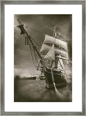 Star Of India Aged Plates Framed Print