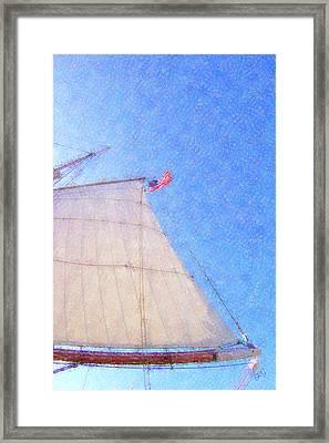 Star Of India. Flag And Sail Framed Print by Ben and Raisa Gertsberg