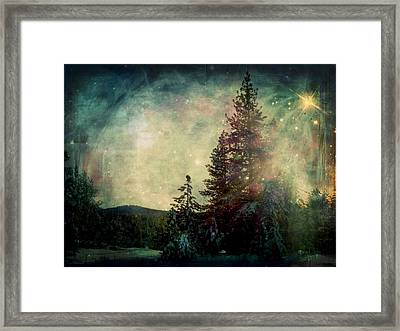 Star Of Solstice Framed Print by Leah Moore
