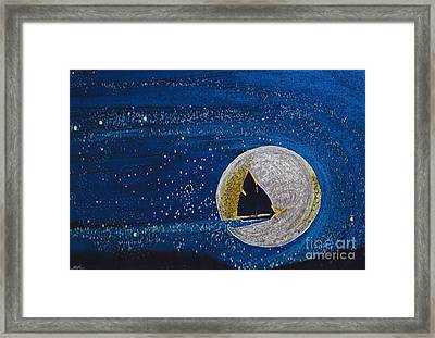 Star Sailing By Jrr Framed Print by First Star Art