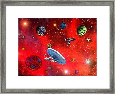 Star Ships Framed Print by Michael Rucker