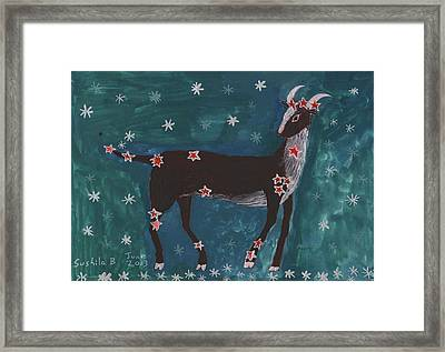 Star Sign Capricorn Framed Print by Sushila Burgess