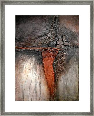 Star Six-the Orange Field Framed Print by Buck Buchheister