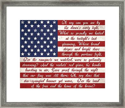 Star Spangled Flag Framed Print by Anna Quach