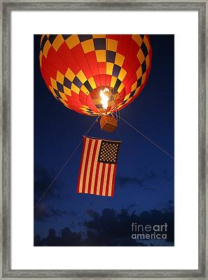 Star Spangled Glow Framed Print by Paul Anderson