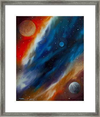 Star System 2034 Framed Print by James Christopher Hill