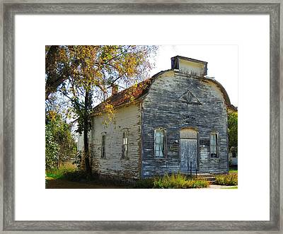 Star Township Building Framed Print by Mikel Classen