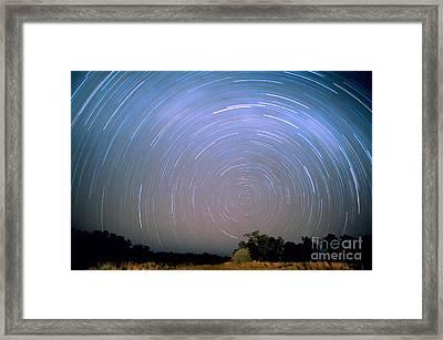 Star Trails Framed Print by Gregory G. Dimijian, M.D.