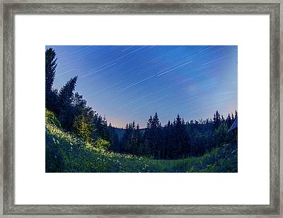 Star Trails Framed Print by Jaroslaw Grudzinski