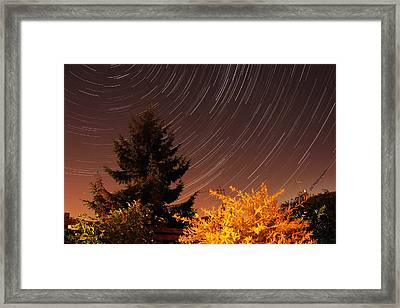 Star Trails Framed Print by Jay Harrison
