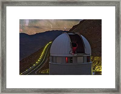 Star Trails Over Observatory Framed Print by Babak Tafreshi