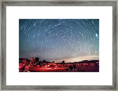 Star Trails Over The Texas Star Party Framed Print