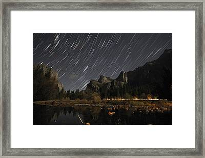 Star Trails Over Yosemite Framed Print