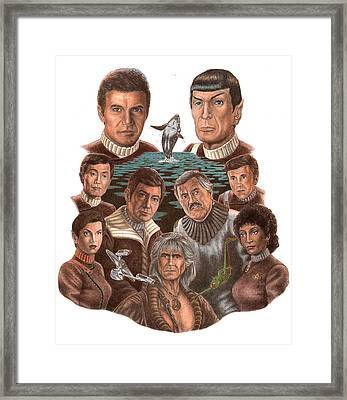 Star Trek 25th Anniversary Framed Print