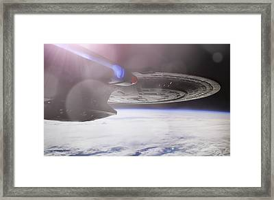 Framed Print featuring the photograph Star Trek - A New Civilization by Jason Politte