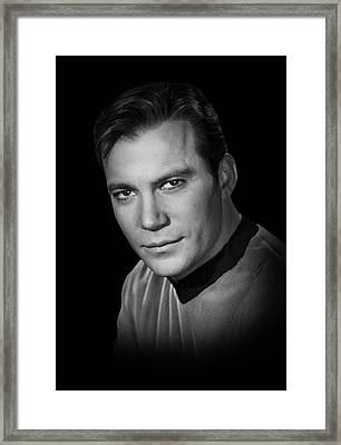 Star Trek Kirk Framed Print by Daniel Hagerman