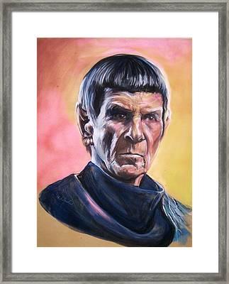 Star Trek Old Spock  Framed Print by Martha Suhocke