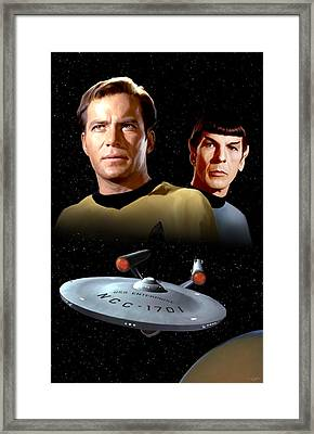 Star Trek - The Original Series Framed Print by Paul Tagliamonte