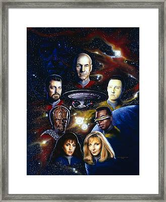 Star Trek Tng Framed Print