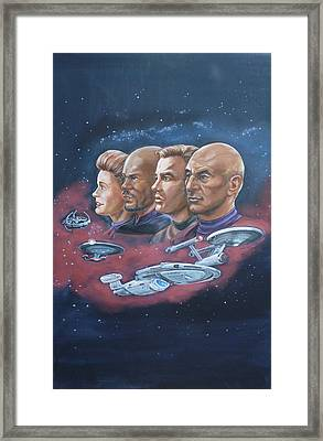 Star Trek Tribute Captains Framed Print