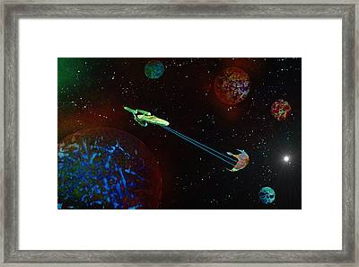 Star Trek -uss Enterprise Framed Print by Michael Rucker