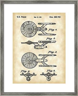 Star Trek Uss Enterprise Toy Patent 1981 - Vintage Framed Print by Stephen Younts
